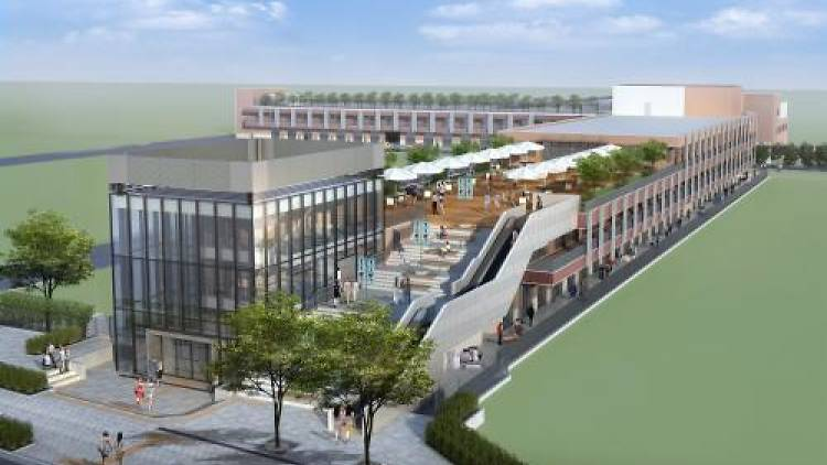 """The New """"Tsukiji Uogashi"""" Market. To be opened in Nov 2016, next to the Outer Market."""